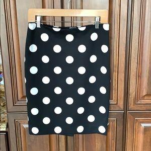 High Waist Polka Dot Figure Flattering Skirt
